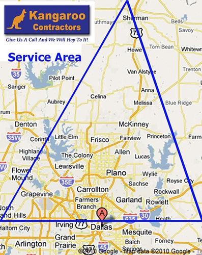 service area, contractor mckinney tx, contractor allen tx, contractor frisco tx