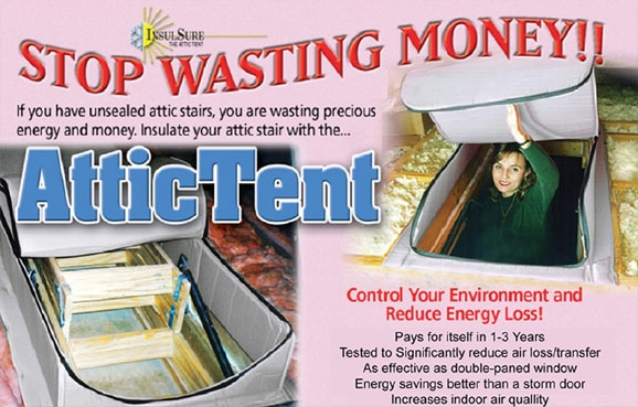 attic tent, energy savings