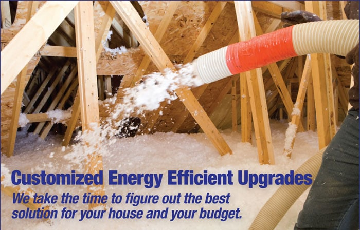 energy efficient upgrades - Blown Insulation