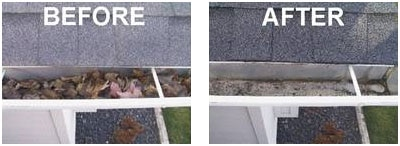 gutter cleaning before after - Gutter Cleaning